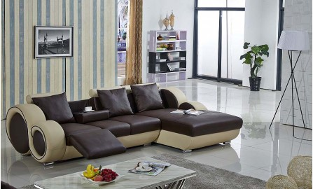HiteK Leather Sofa Lounge Set