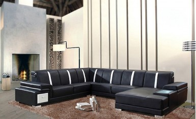 Danny Leather Sofa Lounge Set