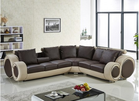 Leather Modular Lounge Suite - Customisable Leather Sofa at Desired ...