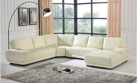 Melton Leather Sofa Lounge Set