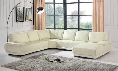 Melton Leather Sofa Lounge Set