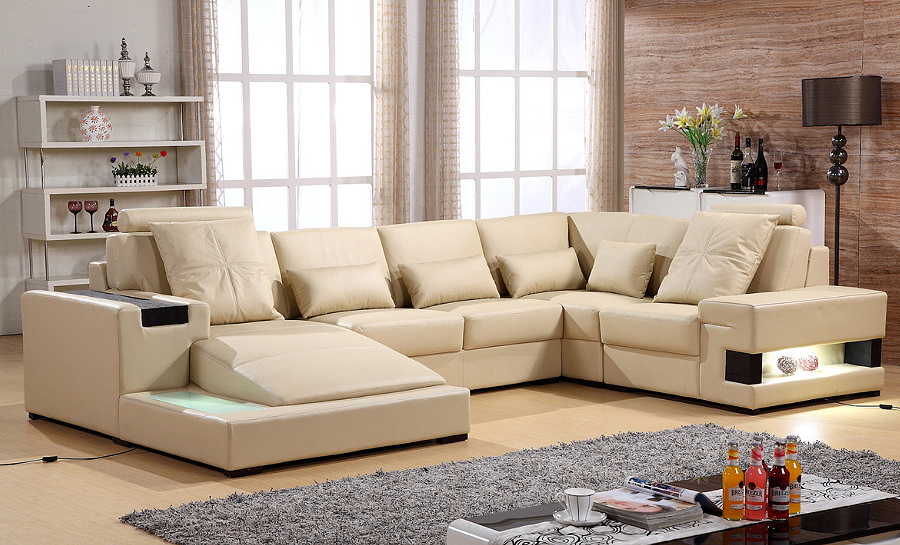 Bond Leather Sofa Lounge Set