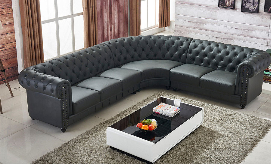 Jayden Leather Sofa Lounge Set