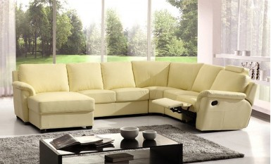 Bolton Leather Sofa Lounge Set