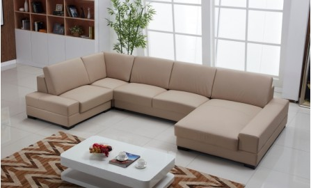 Coogee Leather Sofa Lounge Set