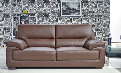 Mia 3 Seater Leather Sofa