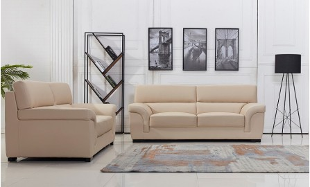 Logan Leather Sofa Lounge Set