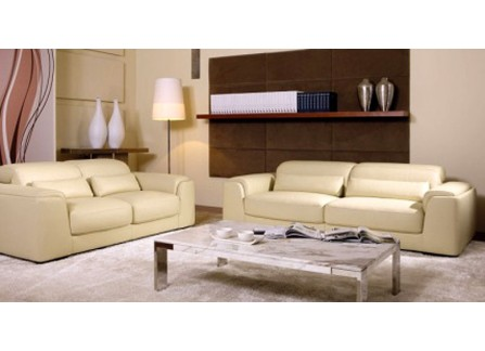 Harper Leather Sofa Lounge Set