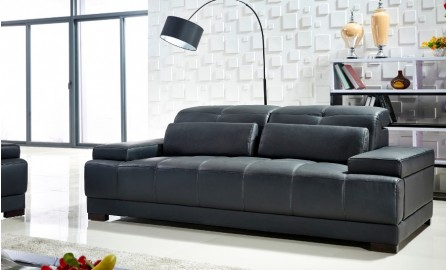 Mayo 3 Seater Leather Sofa