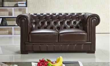 Europa 2 Seater Leather Sofa