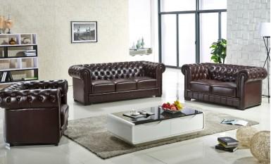 Europa Leather Sofa Lounge Set