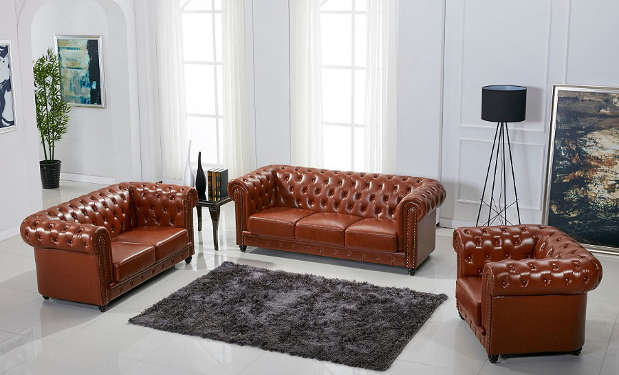 Europa A Leather Sofa Lounge Set