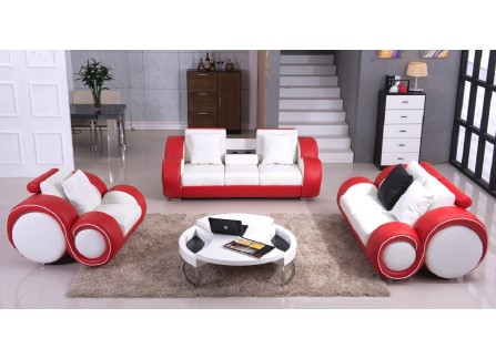 Lisbon Leather Sofa Lounge Set