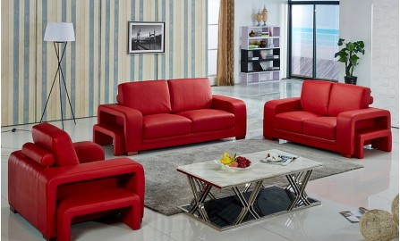 Kolding Leather Sofa Lounge Set
