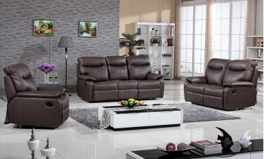 Leicester Leather Sofa Lounge Set