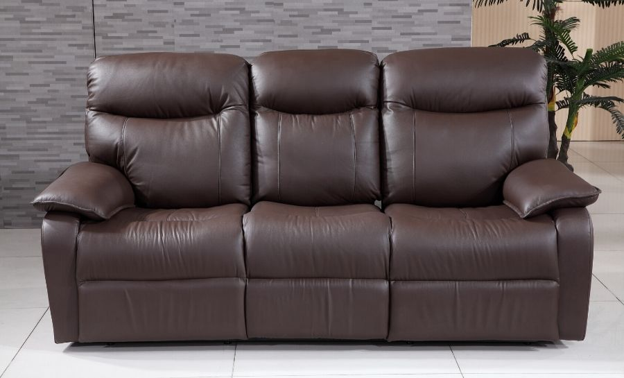 Leicester 3 Seater Leather Sofa