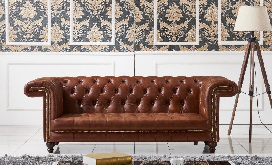Chestnut Leather Sofa Lounge Set