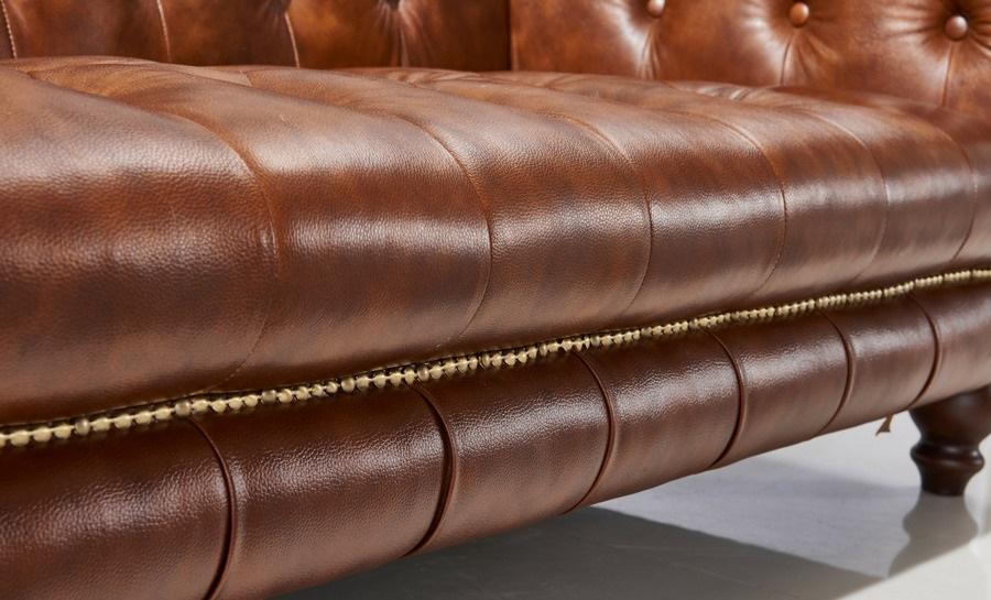Chestnut Leather Sofa Lounge Set