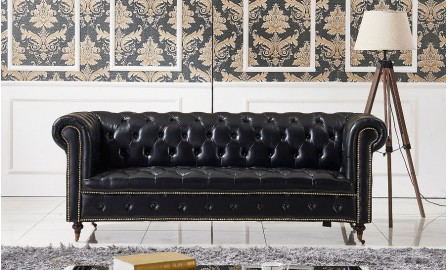 Belly Chesterfield 3 Seater Leather Sofa