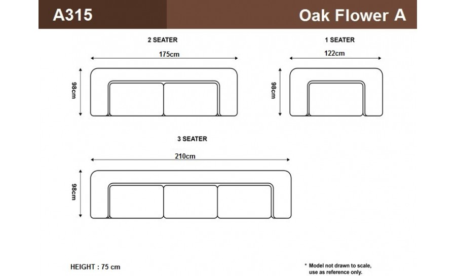 Oak Flower A- Leather Sofa Lounge