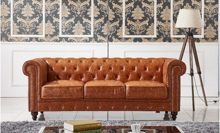 Flake 3 Seater Leather Sofa