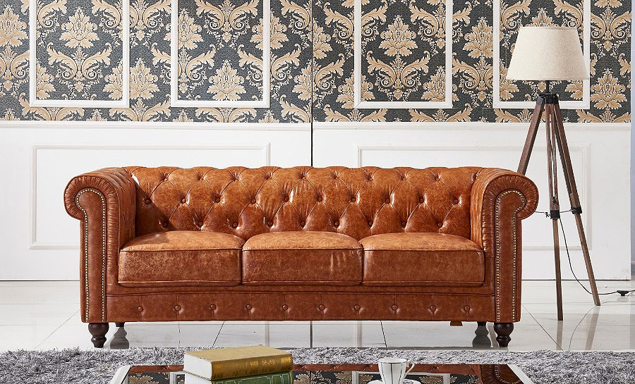 Flake Leather Sofa Lounge Set