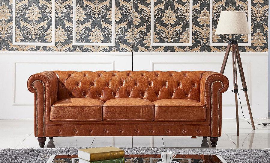 Flake Leather Sofa Lounge Set