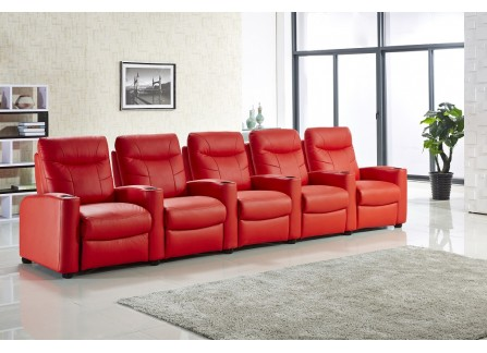 Alison (B) - Deluxe Leather Sofa Set