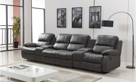 Refine Leather Recliner Lounge