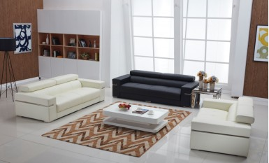 Majestic Leather Sofa Lounge Set