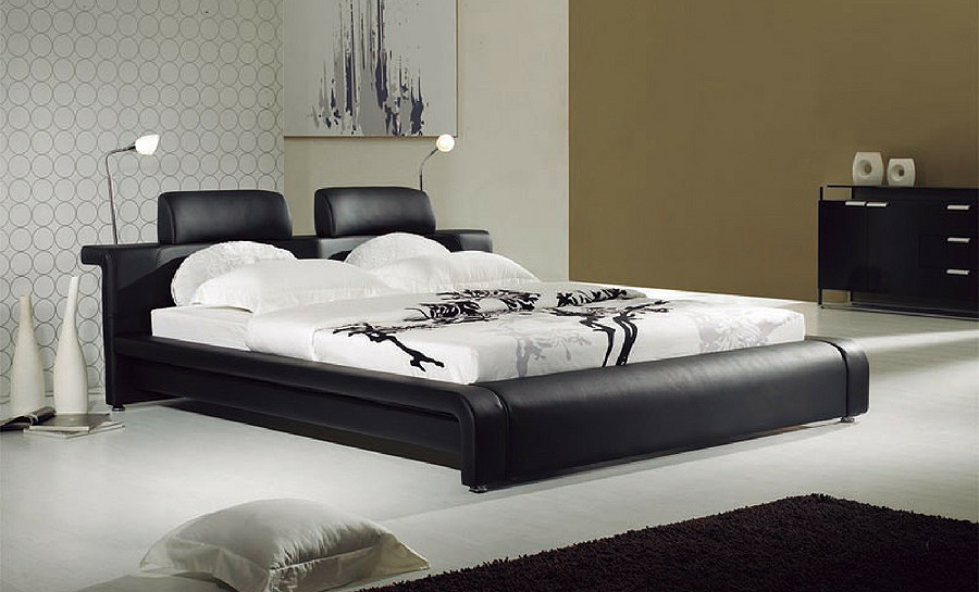 Leather Bed- Model 4
