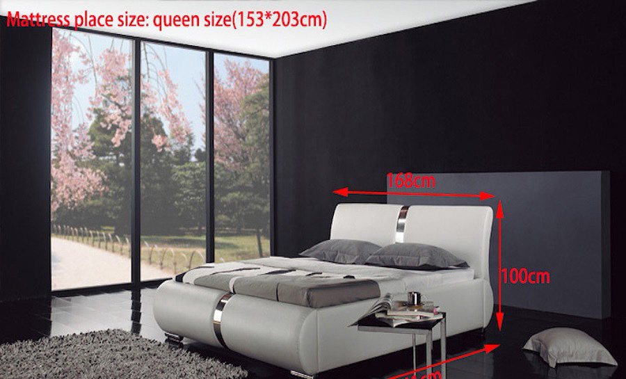 Leather Bed - Model 5