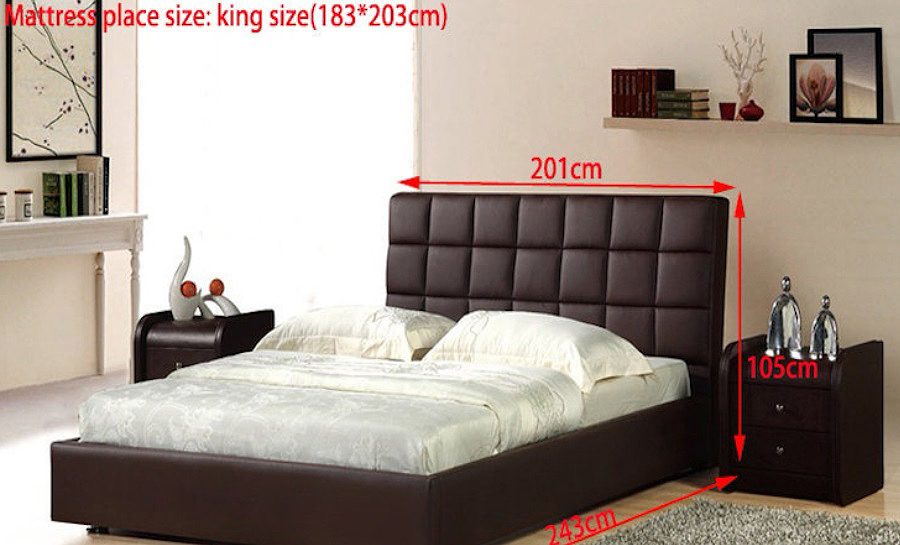 Leather Bed- Model 18