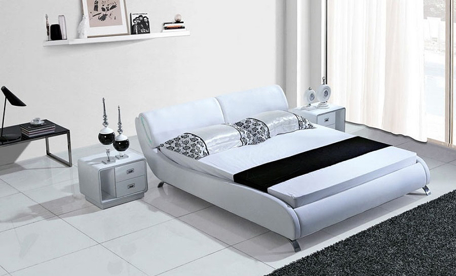 Leather Bed- Model 87 no light