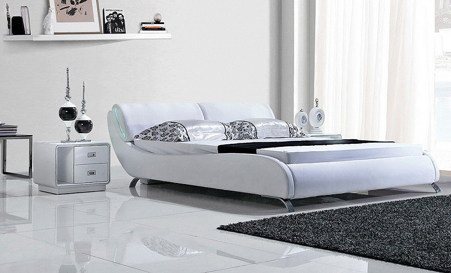 Leather Bed- Model 87 with light