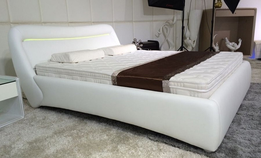 Leather Bed- Model 88 with light