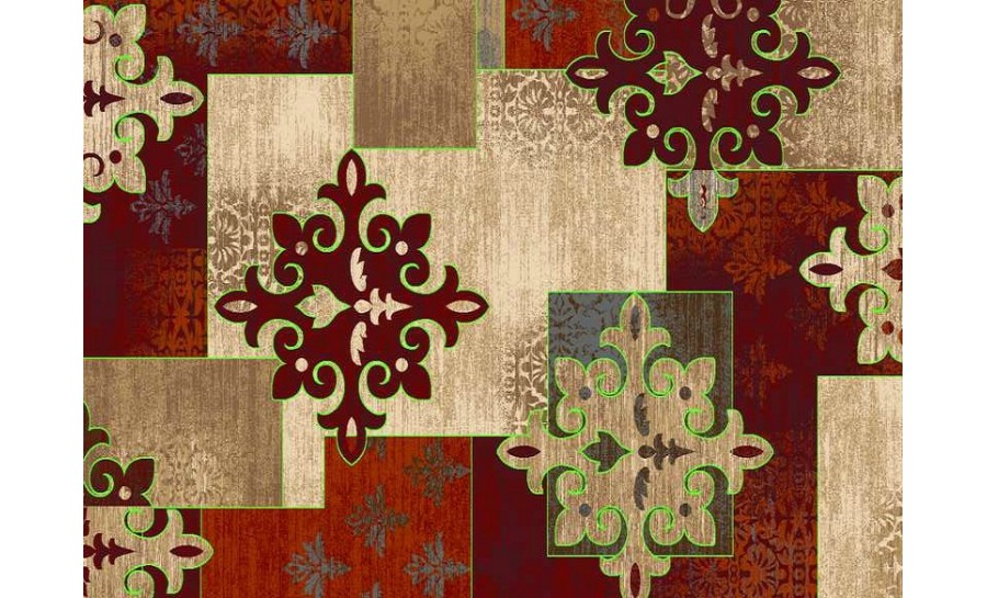 Rugs & Carpets (C) - C038A-BURGUNDY