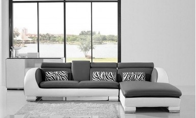 Senza - 2sC - Leather Sofa Lounge Set