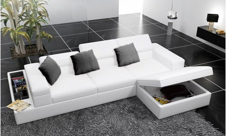 Vienna - L1- Leather Sofa Lounge Set