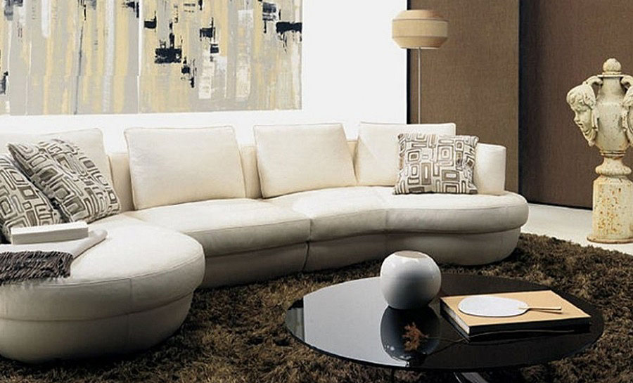 Curviture - Leather Sofa Lounge Set