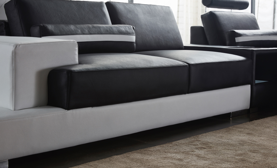 Forrey3SC- Leather Sofa Lounge Set