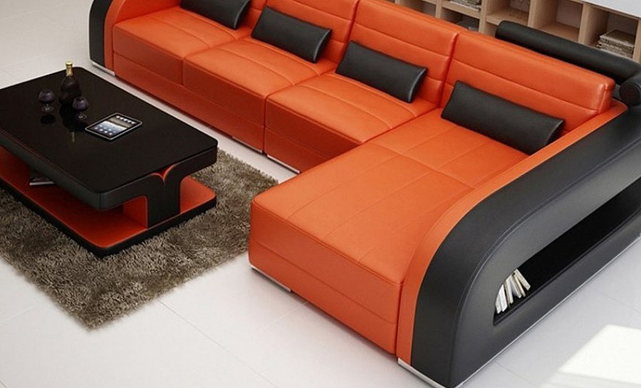Umbra - 3sC - Leather Sofa Lounge Set