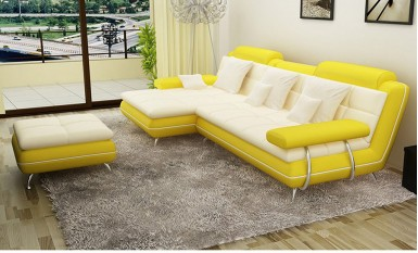 Renown Leather Sofa Lounge Set