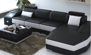 Duncan - Leather Sofa Lounge Set