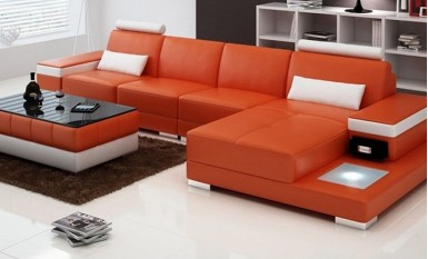 Juliet - 3sC - Leather Sofa Lounge Set