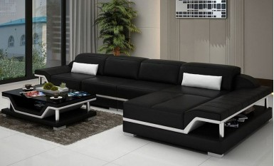 Nexus - 3sC - Leather Sofa Lounge Set