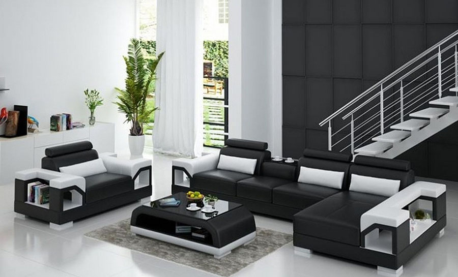 Vaultair-3sC- Leather Sofa Lounge Set