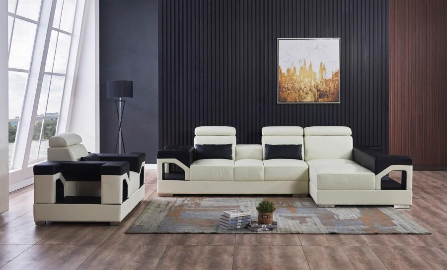 Vaultair-3sC- Leather Sofa Lounge Set