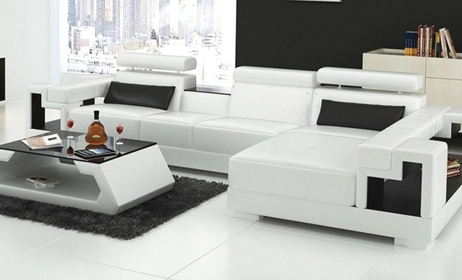 Lumere 3SC- Leather Sofa Lounge Set