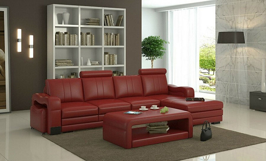 Janice - 3SC - Leather Sofa Lounge Set